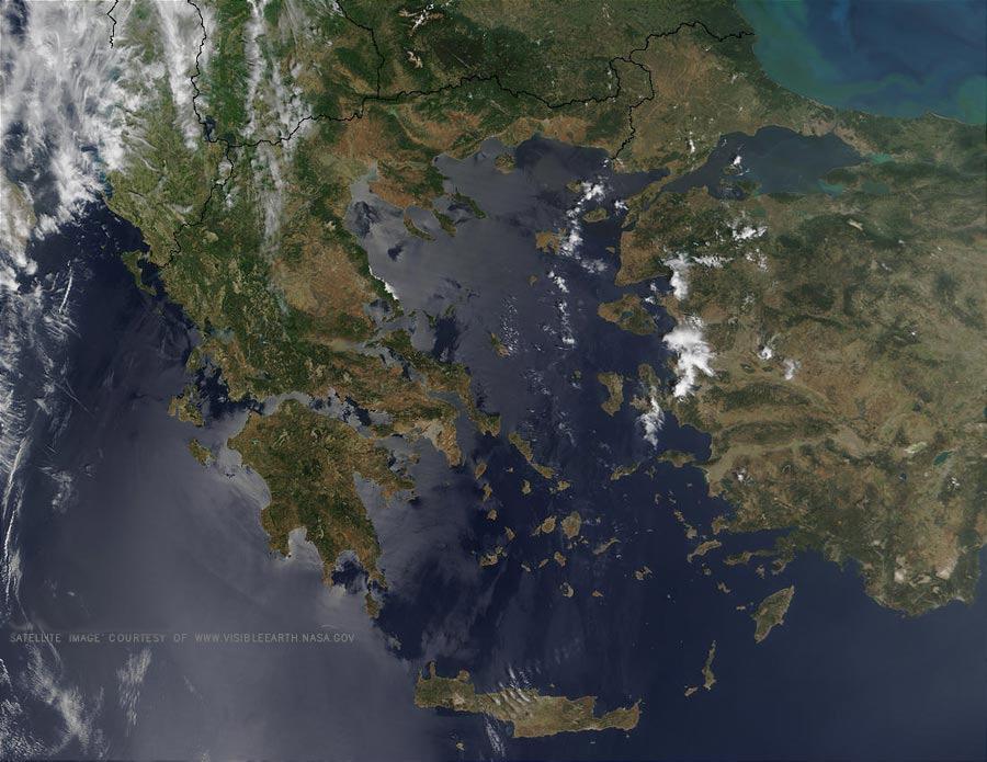 Αποτέλεσμα εικόνας για δορυφορικός χάρτης αν αιγαίου